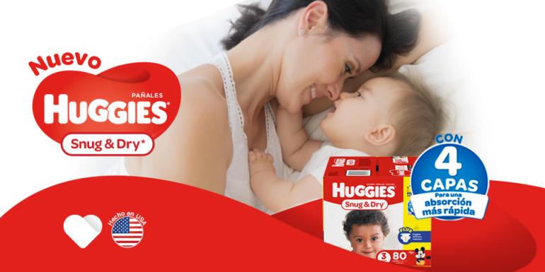 4ac85f920 Nuevos Pañales Snug   Dry de Huggies - Mamis a Domicilio